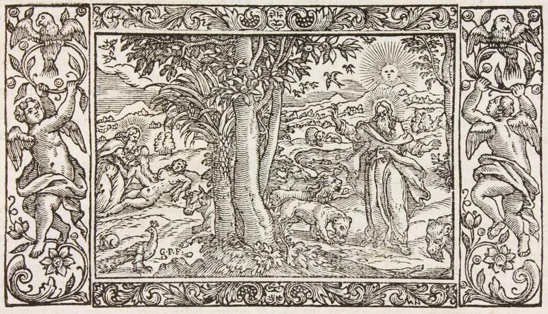<p>Le paradis terestre dans une Bible du XVIII<sup>e</sup> siècle</p>
